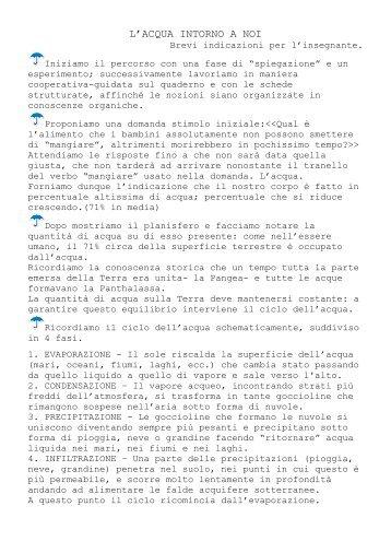 L'ACQUA INTORNO A NOI - La Teca Didattica