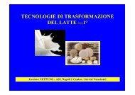 tecnologie di trasformazione del latte - Scuola di Specializzazione in ...