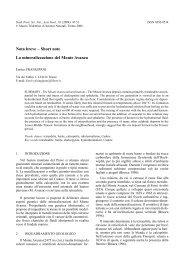 scarica pdf 62KB - Museo Tridentino di Scienze Naturali
