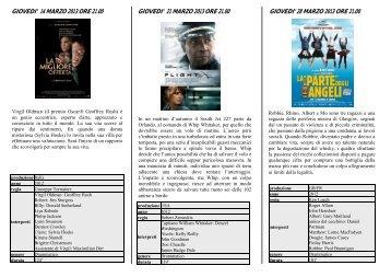programma del mese - Cinema teatro LUX Camisano vicentino