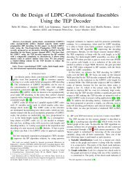 On the Design of LDPC Convolutional Ensembles Using the TEP ...