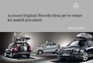 Accessori Originali Mercedes-Benz per le vetture dei modelli ...