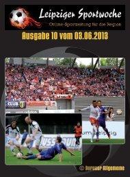 """""""Leipziger Sportwoche"""" - Fußball Zeitung - Ausgabe 10 vom 03.06.2013"""
