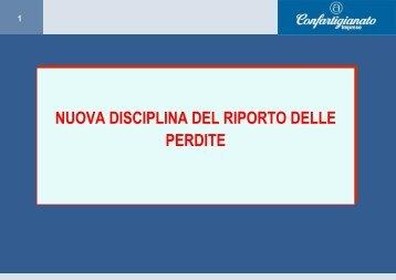 Nuova disciplina riporto delle perdite - Confartigianato Cuneo