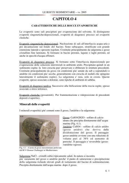 datazione di roccia sedimentaria