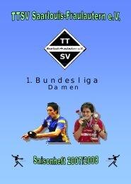 Saisonmagazin 2007/08 - TTSV Saarlouis-Fraulautern