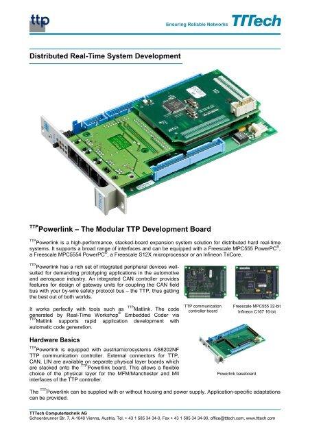 The Modular TTP Development Board - TTTech Computertechnik AG