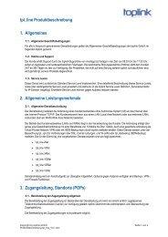 tpl_line Produktbeschreibung 1. Allgemeines 2 ... - Toplink