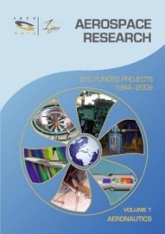 Aerospace Research - ISTC Funded Projects 1994-2009