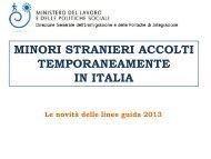 MINORI STRANIERI ACCOLTI TEMPORANEAMENTE IN ITALIA