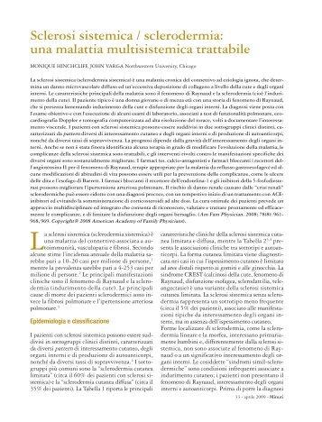 Sclerodermia - Fondazione Internazionale Menarini