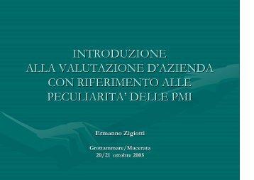 Lucidi prof. Zigiotti - Afoprof.Org