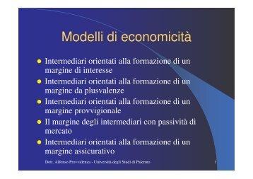 Modelli di economicità