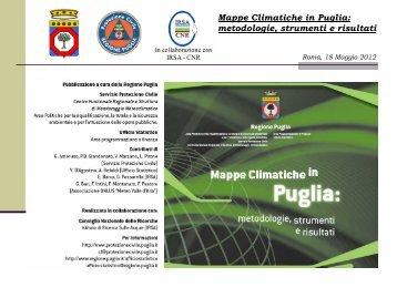Mappe Climatiche in Puglia: metodologie, strumenti e risultati ...