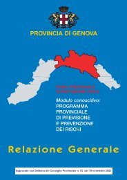 Relazione Generale - CarT@GIS - Provincia di Genova
