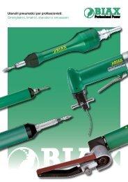 Utensili pneumatici per professionisti: Smerigliatrici, limatrici ... - Biax