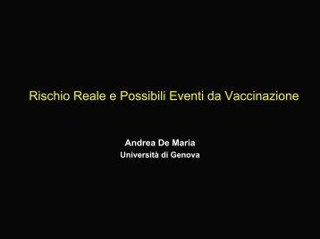 Rischi ed efficacia dei vaccini