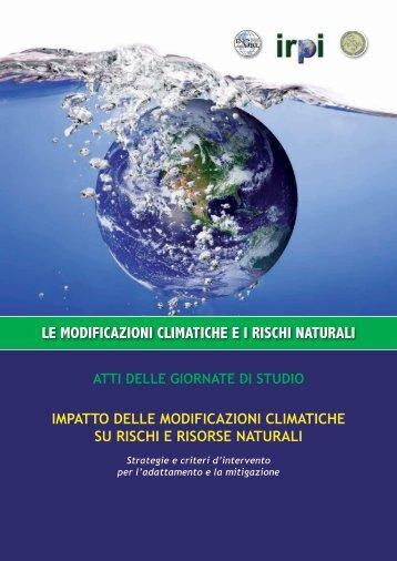 analisi degli effetti dei cambiamenti climatici sulla frequenza delle ...