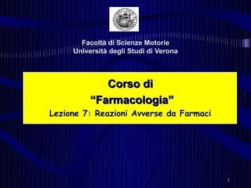 Focus on GI Aes with NSAIDs - Università degli Studi di Verona