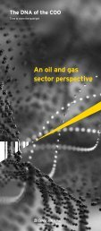 An oil and gas sector perspective