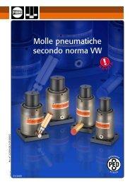 Molle pneumatiche secondo norma VW - Fibro GmbH