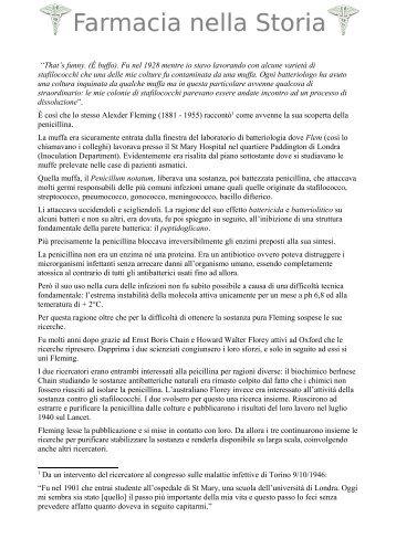 - Le Sostanze Antimicrobiche - Farmacia nella Storia
