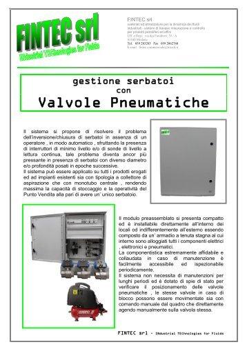 Valvole Pneumatiche - Pagina di Benvenuto - FINTEC - INdustrial ...