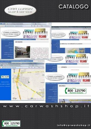 CATALOGO - CAR WASH Shop & Service SRL