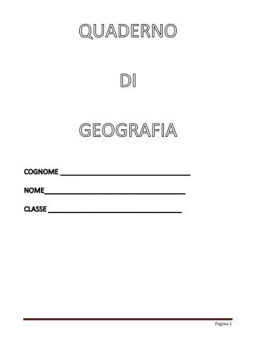 quaderno di geografia 4 - Giovanni.Mastrorocco.Name