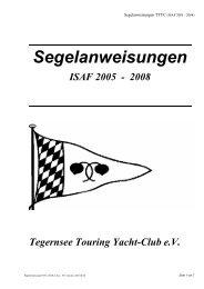 Segelanweisungen - TTYC