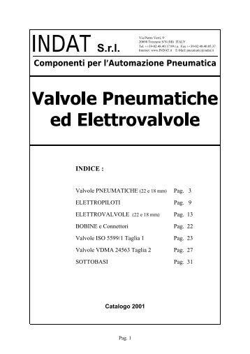 Valvole Pneumatiche ed Elettrovalvole - INDAT Srl