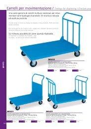 Carrelli per movimentazione / Trolleys for displacing ... - MG Magrini