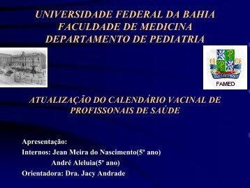 Atualização do Calendário Vacinal dos Profissionais de Saúde
