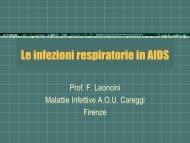 Le infezioni respiratorie in AIDS - Medicina e Chirurgia
