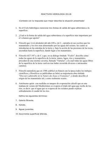 guía de estudio hidrologia - Universidad de Guadalajara