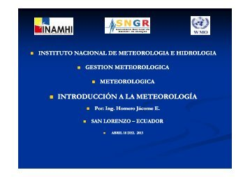 introducción a la meteorología (homero jácome - Instituto Nacional ...