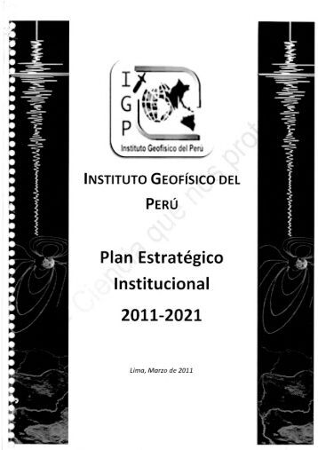 Plan Estrategico Institucional 2011-2021 - Instituto Geofísico del Perú