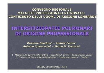 interstiziopatie polmonari di origine professionale - Ospedale di ...