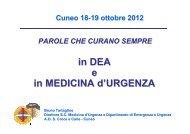 in DEA e in MEDICINA d'URGENZA - Azienda Ospedaliera S. Croce ...
