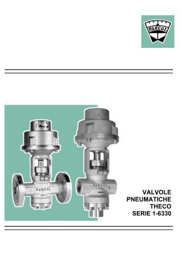 VALVOLE PNEUMATICHE THECO SERIE 1-6330 - Parcol