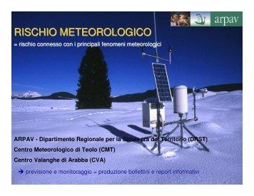 RISCHIO METEOROLOGICO - Provincia di Belluno