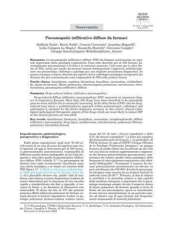 240-251 Osservatorio - Scala - Recenti Progressi in Medicina
