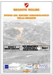 Dati idrometrici e pluviometrici e analisi statistica - Regione Molise
