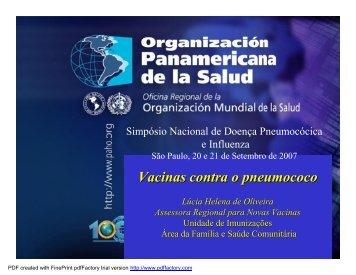 Vacinas contra o pneumococo - Sabin Vaccine Institute