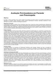 Avaliação Pré-Anestésica em Paciente com Pneumopatia