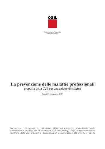 La prevenzione delle malattie professionali - 2009 - Veneto
