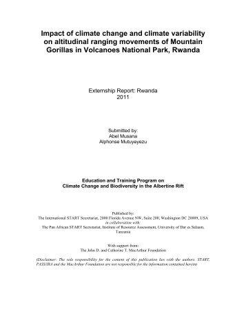 Externship Report: Rwanda - START - SysTem for Analysis ...