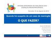 OFICINA INTEGRADA - MENINGITE 2012 - Suvisa