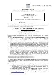 Bando IP Pneumologia PO MB - Azienda ULSS 8