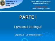 I processi idrologici - Università degli Studi di Messina